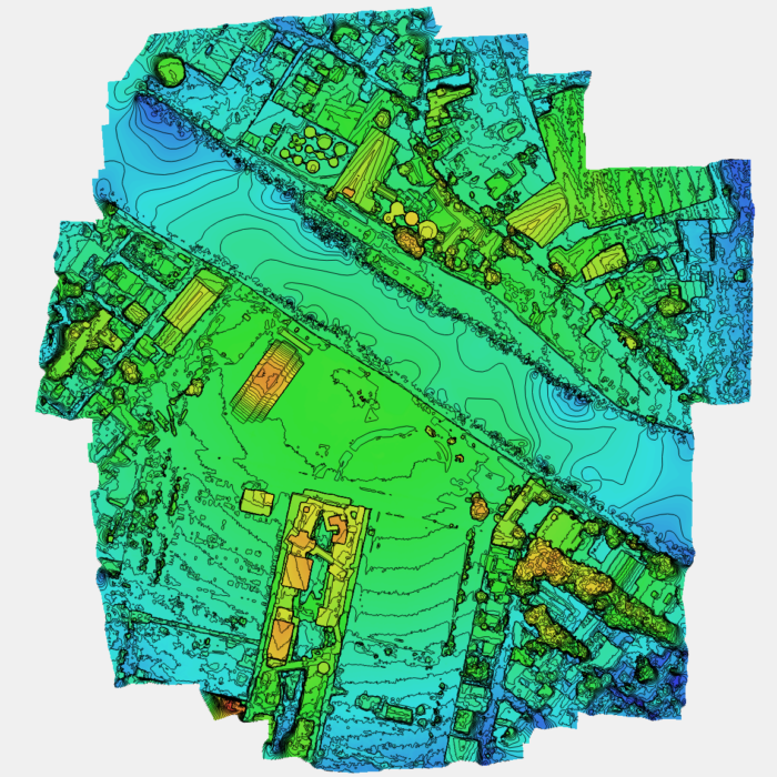 Urban Setting Digital Elevation Map